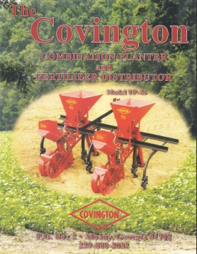 Combination Planter and Fertilizer Distributor Instructions